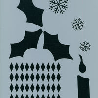 Chris Haughey's Victorian Holiday Background Basecoat Stencil
