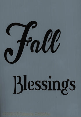 Fall Blessings Stencil