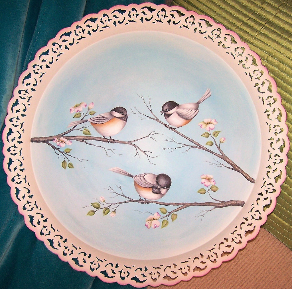 Spring Chickadees and Dogwood E-Pattern By Linda Hollander