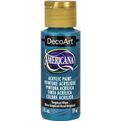 Tropical Blue Americana Acrylic Paint by DecoArt