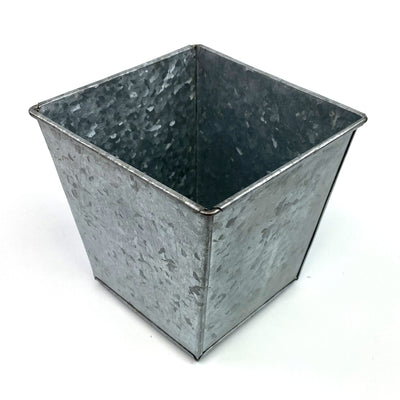 "5"" Square Container Galvanized Metal"