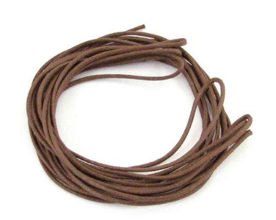 1mm Brown Imitation Leather Cord