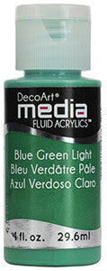 DecoArt Media Fluid Acrylics - Blue Green Light - 1 oz.