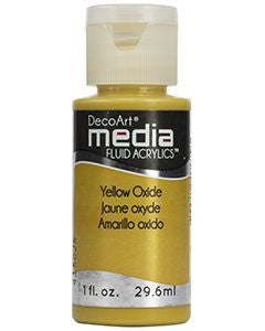 DecoArt Media Fluid Acrylics - Yellow Oxide - 1 oz.
