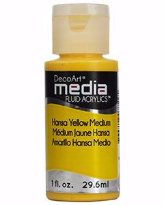 DecoArt Media Fluid Acrylics - Hansa Yellow Medium 1 oz.