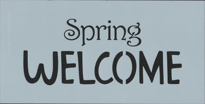Spring Welcome Stencil
