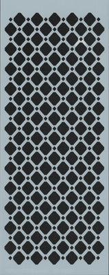 Diamond Lattice Border Stencil