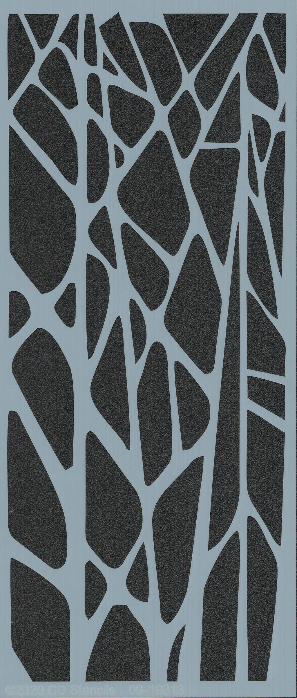 Geo Pebble Border Stencil