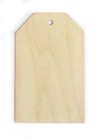 2-3/4 in. Traditional Wood Mailing Tag