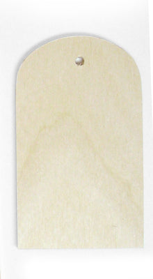 5 in. Round Top Plywood Tag