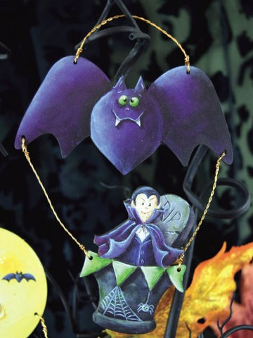 RIP Bat Dracula Hot Air Balloon Ornament