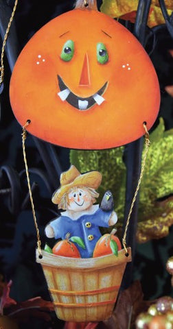 Scarecrow and Jack Hot Air Balloon Ornament