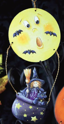 To the Moon Witch Hot Air Balloon Ornament
