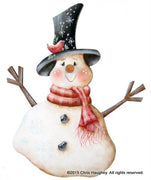 Top Hat Tom Snowman Ornament