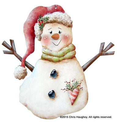 Santa Hat Sam Snowman Ornament