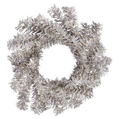 4 in. Silver Pine Wreath