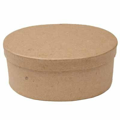 5 in. Paper Mache Oval Boxes