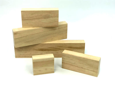 Unfinished Wood Block Shelf Sitter Set