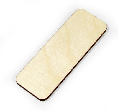3 in. Wood Rounded Rectangle
