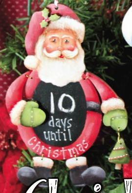 Santa Countdown Ornament