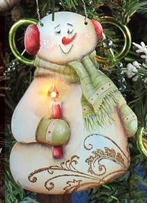 Charlie Candle Snowman Ornament