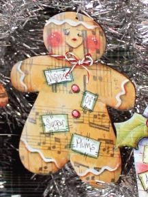 Gingerbread Tinsel Tune Ornament