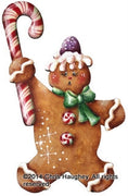 Gingerbread Candycane Ornament