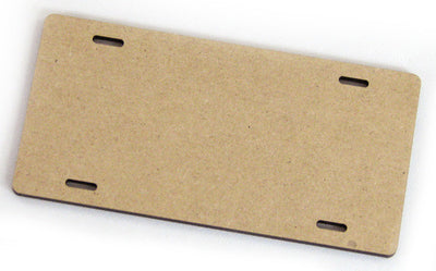"4"" MDF License Plate / Scooter Plate"