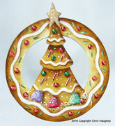 Christmas Tree Circle Ornament