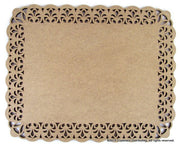"15"" Rectangle Lace Plaque"