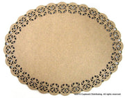 "15"" Oval Lace Plaque"