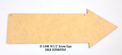 "14-1/2"" Arrow Sign"