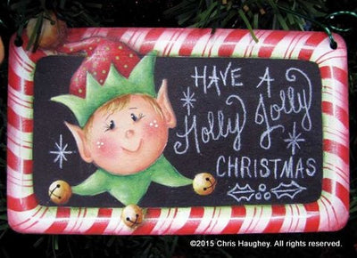 Holly Jolly Chalkboard Pin