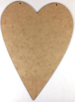 Primitive Heart Plaque