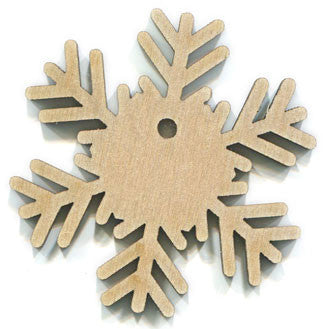 "4"" Wood Snowflake with Hole"
