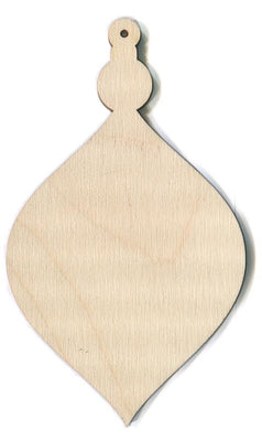 Wide Teardrop Ornament