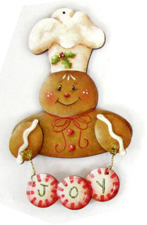 Gingerbread Jingle Joy Ornament Wood Kit