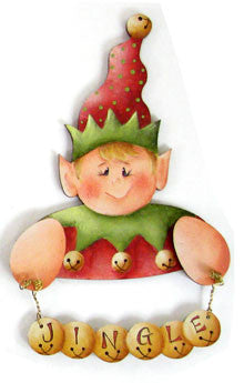 Elf Jingle Joy Ornament Wood Kit