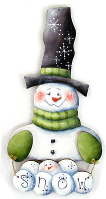 Snowman Jingle Joy Ornament Wood Kit