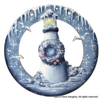 Lighthouse Circle Cutout Ornament
