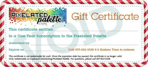 One-Year Subscription to the Pixelated Palette Gift Certificate