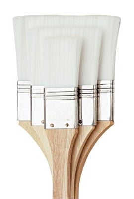 Royal and Langnickel Flat Brush Set White Taklon
