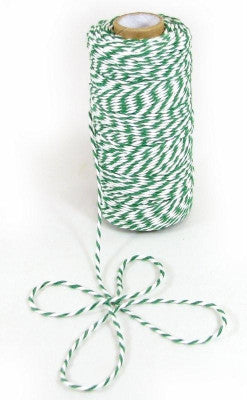 Green & White Baker's Twine