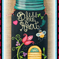 12 in. Mason Jar Plaque