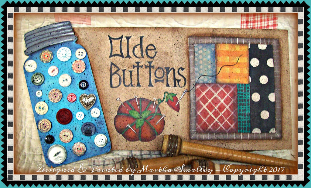 Olde Buttons E-Pattern by Martha Smalley