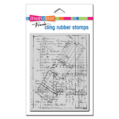 Ledger Script Cling Stamp