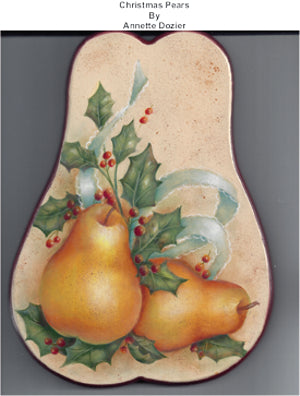 Christmas Pears E-Pattern By Annette Dozier