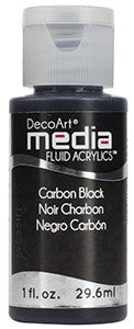 Carbon Black Fluid Acrylic (Series 1)