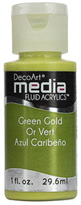 Green Gold Fluid Acrylic (Series 4)