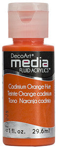 Cadmium Orange Hue Fluid Acrylic (Series 1)
